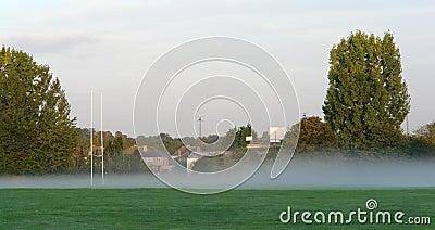 Misty Rugby Field