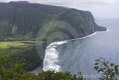 Misty shoreline of the Big Island of Hawaii