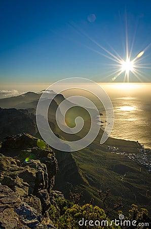 Misty Sun set