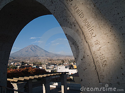 Misty Volcano at Arequipa, Peru