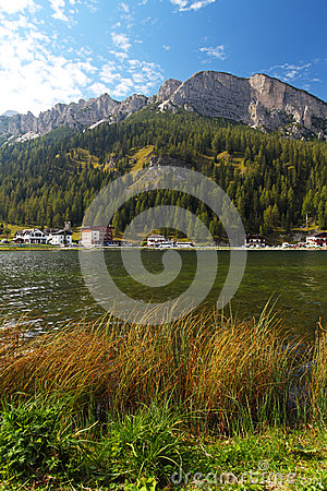 Misurina lake with Three Peaks