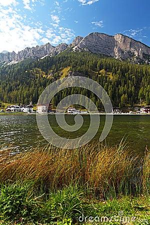 Misurina lake with Three Peaks