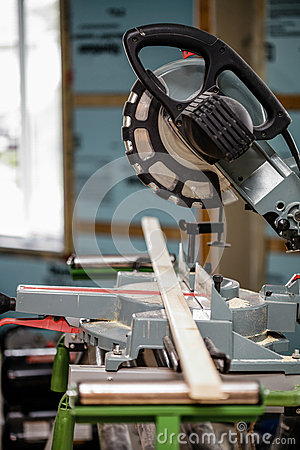 Free Miter Saw On A Construction Site Stock Photos - 52582523