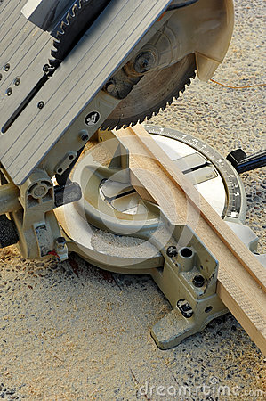 Free Miter Saw, Woodworking Power Tools Stock Image - 63728651