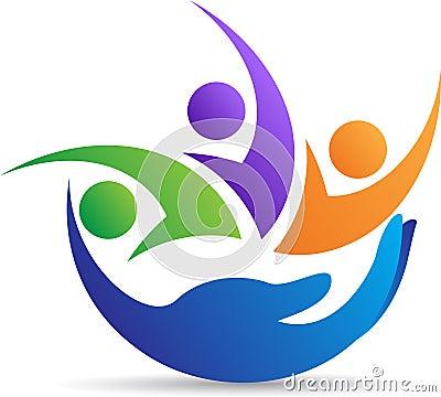 Mitfühlendes Logo der Familie