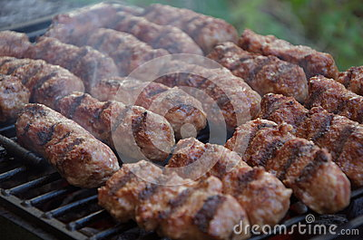 Mititei or mici, typical romanian food