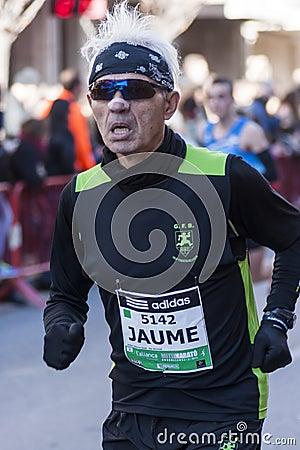 Mitja Marato Granollers Editorial Stock Image
