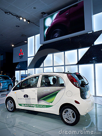 Mitsubishi Electric Vehicle Concept Car 2010 Editorial Photography