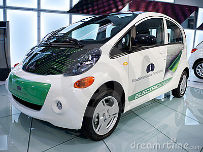 Mitsubishi Electric Vehicle Concept Car 2010 Editorial Stock Photo