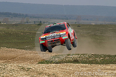 Mitsubishi jumping Editorial Image