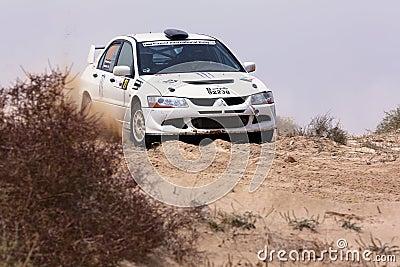 Mitsubishi Lancer Evo - Kuwait Rally Editorial Image
