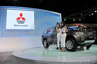 Mitsubishi Outlander on Display at a Motor Show Editorial Photo