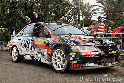 Mitsubishi rally car Editorial Stock Image