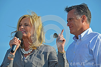 Mitt and Ann Romney Editorial Photo