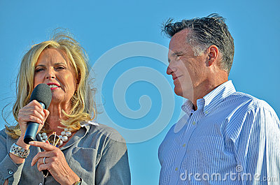 Mitt and Ann Romney Editorial Photography