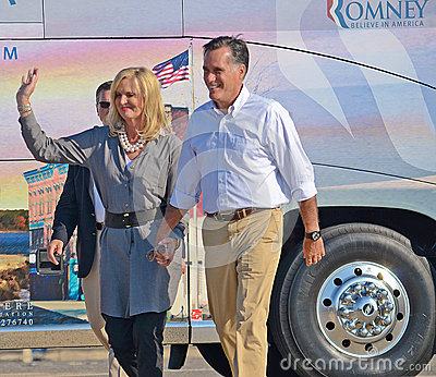 Mitt and Ann Romney Editorial Stock Photo
