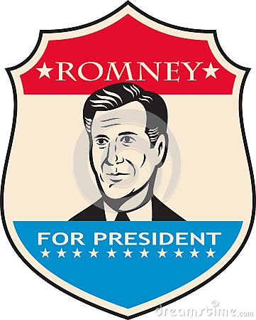 Mitt Romney For American President Shield Editorial Image