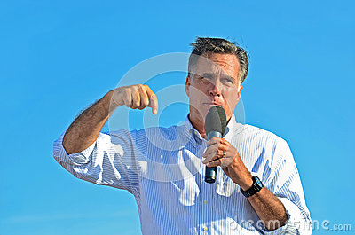 Mitt Romney giving a speech Editorial Stock Photo