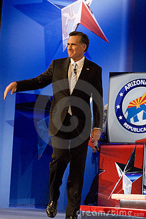 Mitt Romney at GOP Debate 2012 Editorial Image