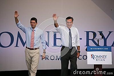 Mitt Romney and Paul Ryan Editorial Photography