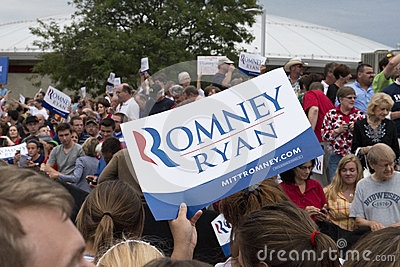 Mitt Romney Paul Ryan Political Rally Editorial Photo