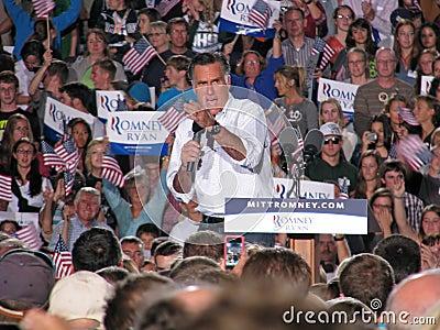 Mitt Romney Rally Editorial Photography