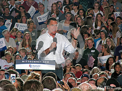 Mitt Romney Rally Editorial Photo