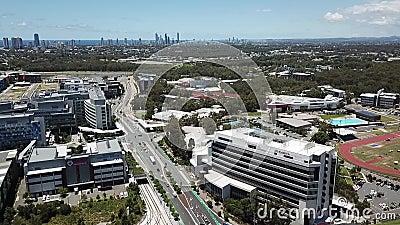 Mittagsansicht Southport Queensland, Australien stock footage