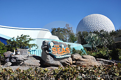Mitte Disney-Epcot und die Meere Redaktionelles Stockfoto