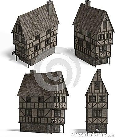 Mittelalterliche Häuser - Taverne