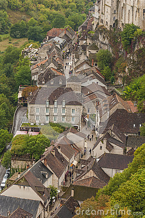 Mittelalterliche Stadt von Rocamadour, Frankreich