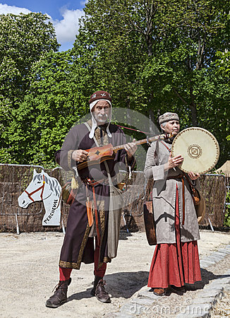 Mittelalterliche Troubadoure Redaktionelles Bild