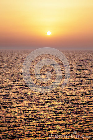 Mittelmeersonnenuntergang.