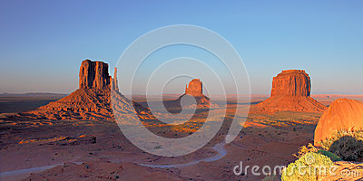 Mittens and Merrick Butte Monument Valley