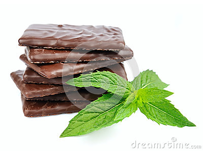 Mix chocolate and mint
