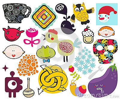 Mix of different vector images. vol.69