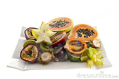 Mix of exotic s fruits.