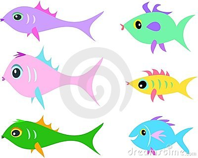Mix of Fish of Different Shapes