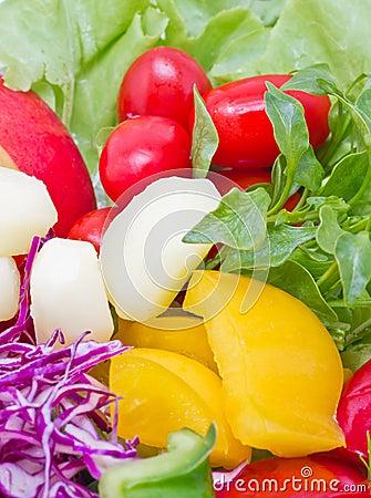 Mix Fresh Vegetables.