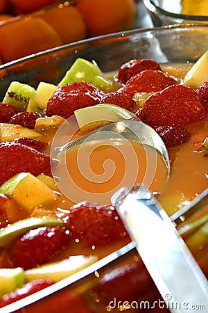 Mix fruit and juice