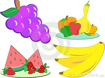 Mix of Fruits and Vegetables
