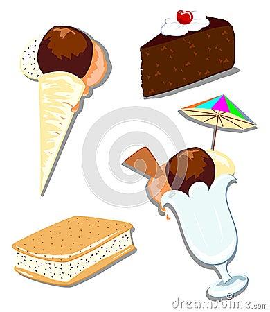 Mix ice cream and cake