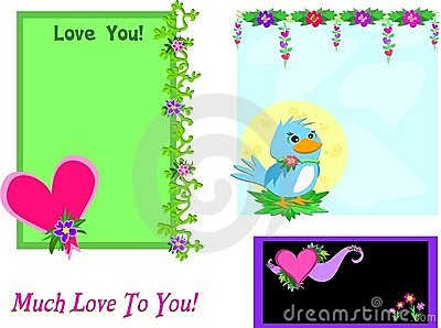 Mix of Loving Heart Felt Frames
