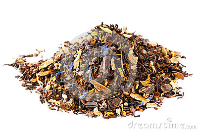 Mix of mate, black tea, and red rooibos