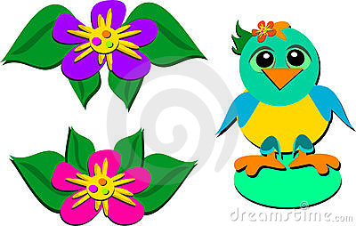 Mix of Parrot and Flowers