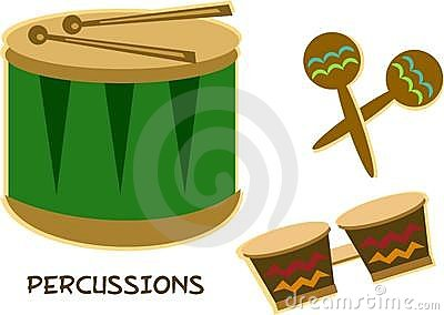 Mix of Percussion Instruments