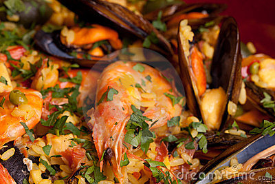Mix Of Rice And Seafood - Paella