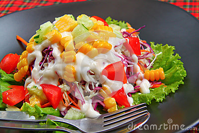 Mix salad with Mayonnaise