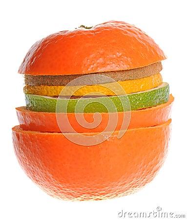 Mix of sliced fruit