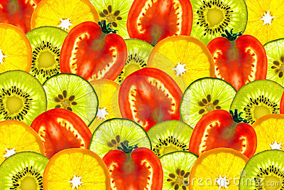 Mix sliced fruit